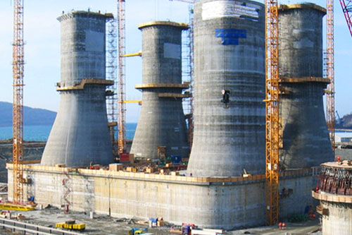 "Mechanical outfitting of the reinforced concrete gravity base structure for  ""Sakhalin-2"" project"