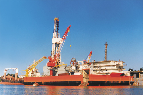 Drilling barge Suncar